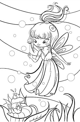 Pretty fairy coloring story words pics for Coloring pages of pretty fairies