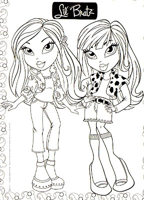Bratz Coloring Pages on Bratz Coloring Pages  Lil Bratz Coloring