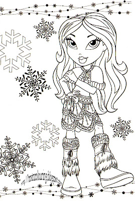 Bratz Coloring Pages on Bratz Coloring Pages  Bratz Christmas Coloring Pages