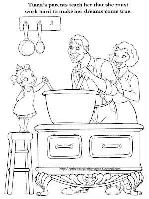 two princess and the frog coloring pages that show princess tiana when she was a little girl how beautiful and cute does she look - Tiana Princess And The Frog Coloring Pages