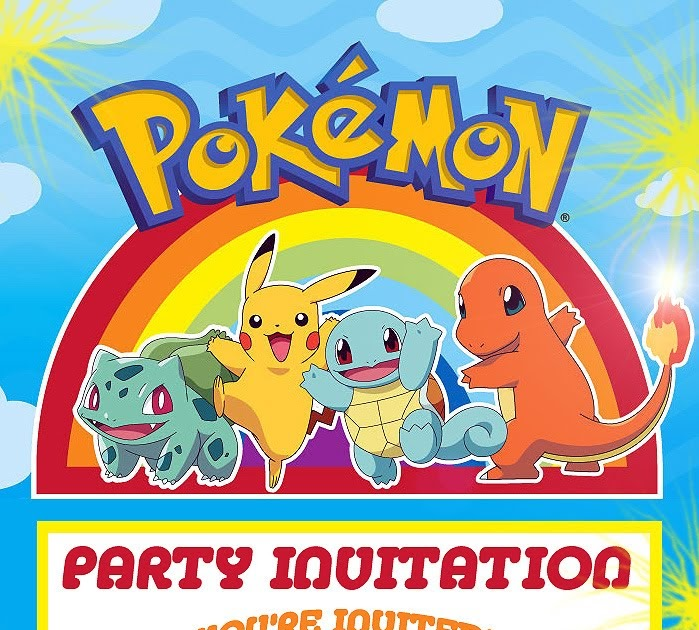 Free Pokemon Birthday Invitations is amazing invitation ideas