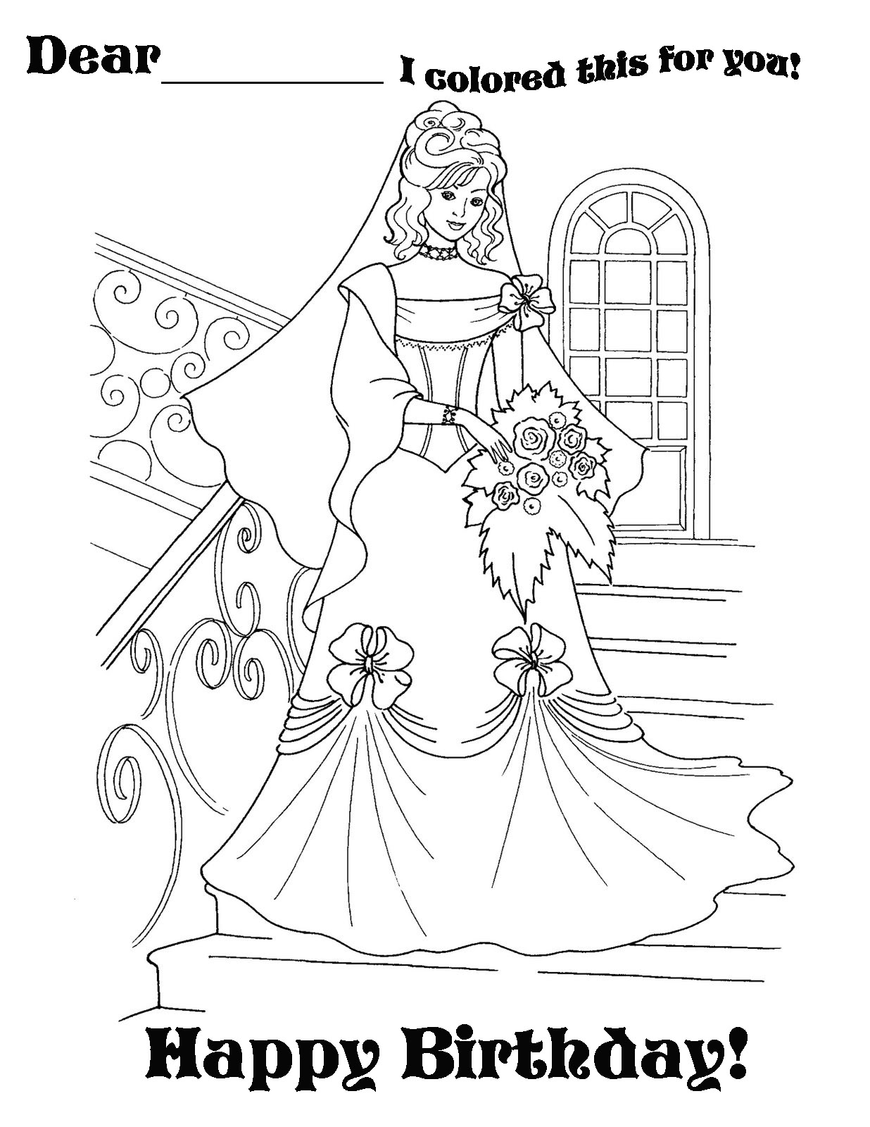 Princess coloring pages happy birthday princess coloring picture bookmarktalkfo Image collections