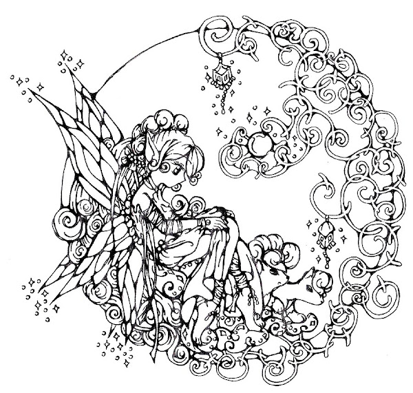 Free Adult Coloring Pages Fairies