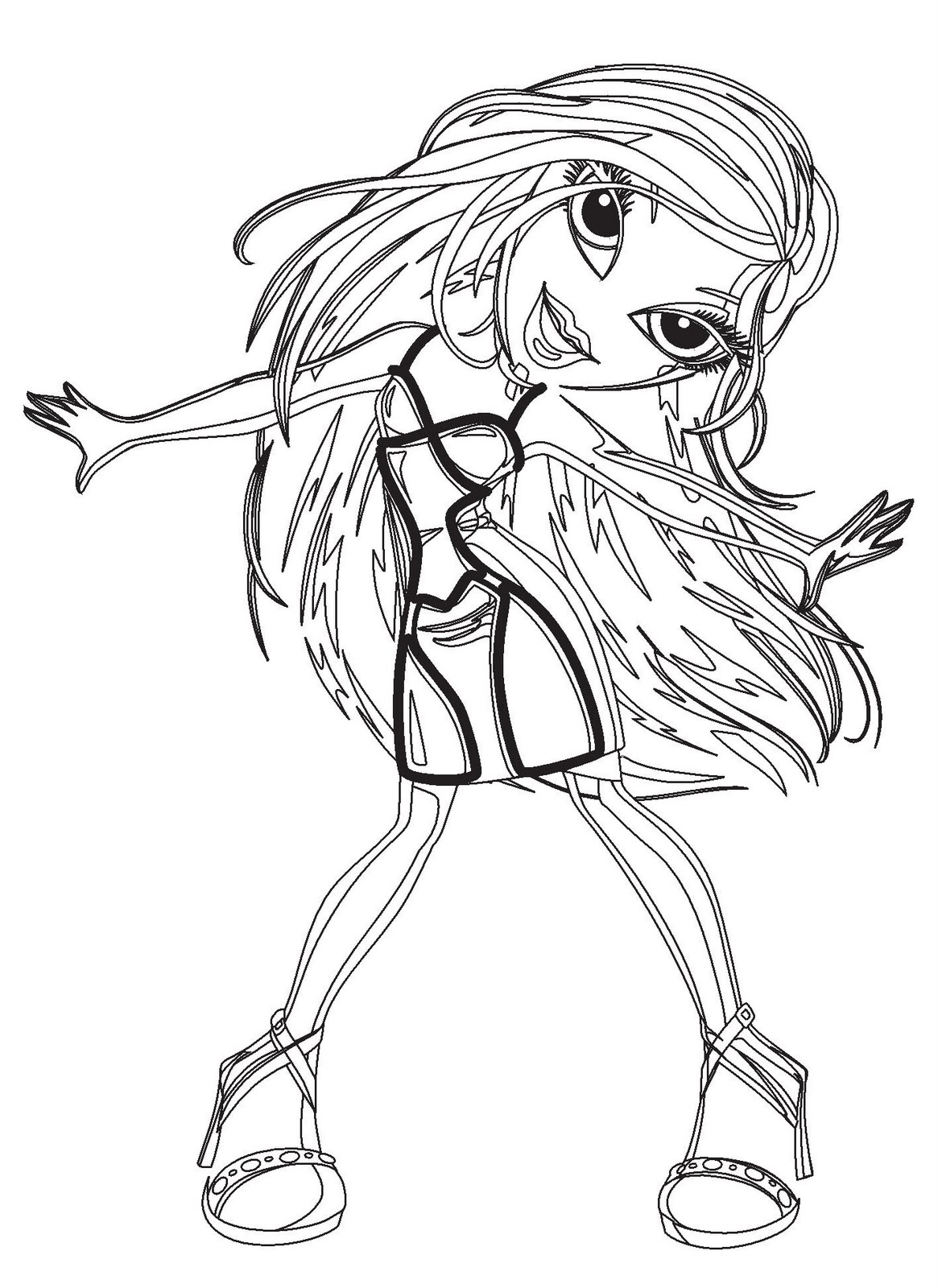 Coloring pages printable bratz