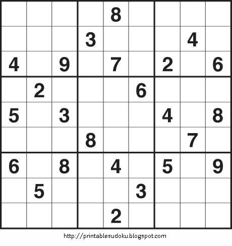 Hard Sudoku Puzzles To Print PRINTABLE SUDOKU