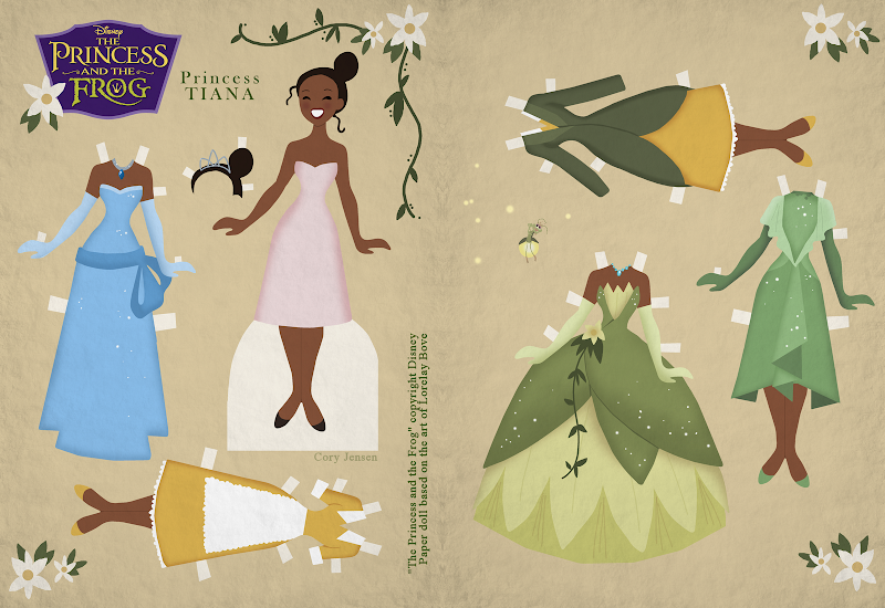 PRINCESS TIANA PAPER DOLL BY CORY JENSEN AT DEVIANT ART title=