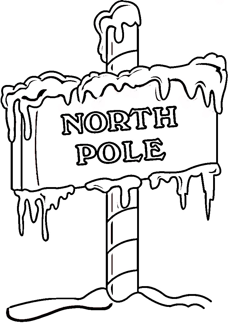 Xmas Coloring Pages Coloring Pages Pole