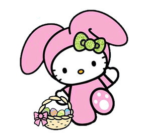 Posh Prom Girl Hairstyle HELLO KITTY EASTER COLORING PAGE