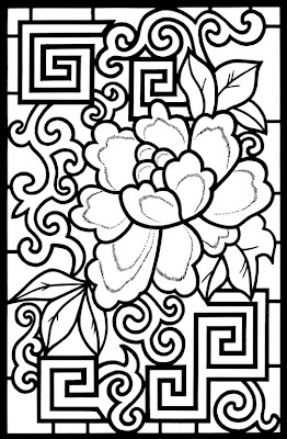 Stained Glass Coloring Pages Adult