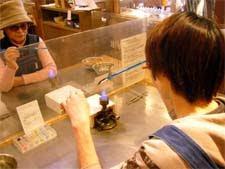 トンボ玉作り体験
