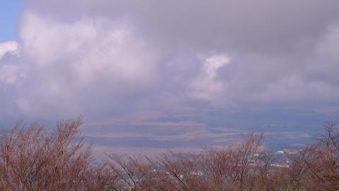 雲の中の富士山
