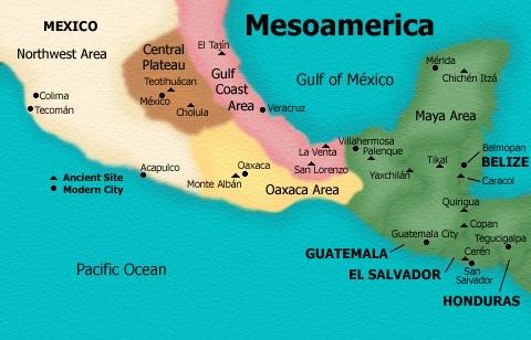 Epoca prehispanica for Cultura maya ubicacion