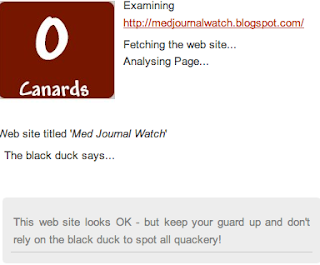quackometer result for med journal watch