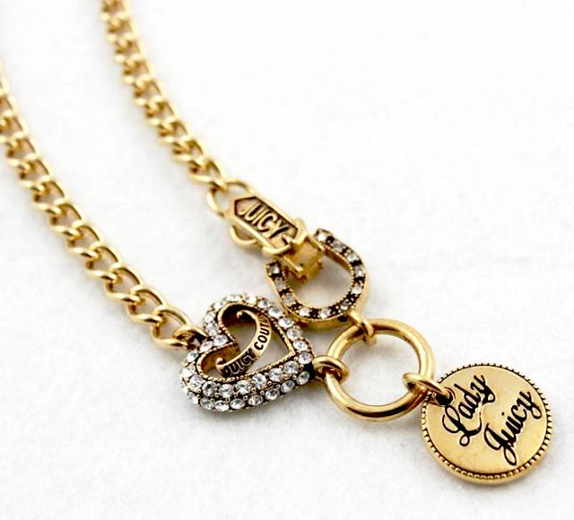 juicy couture love luck charm starter necklace