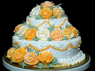 3 tiers Wedding buttercream cakes