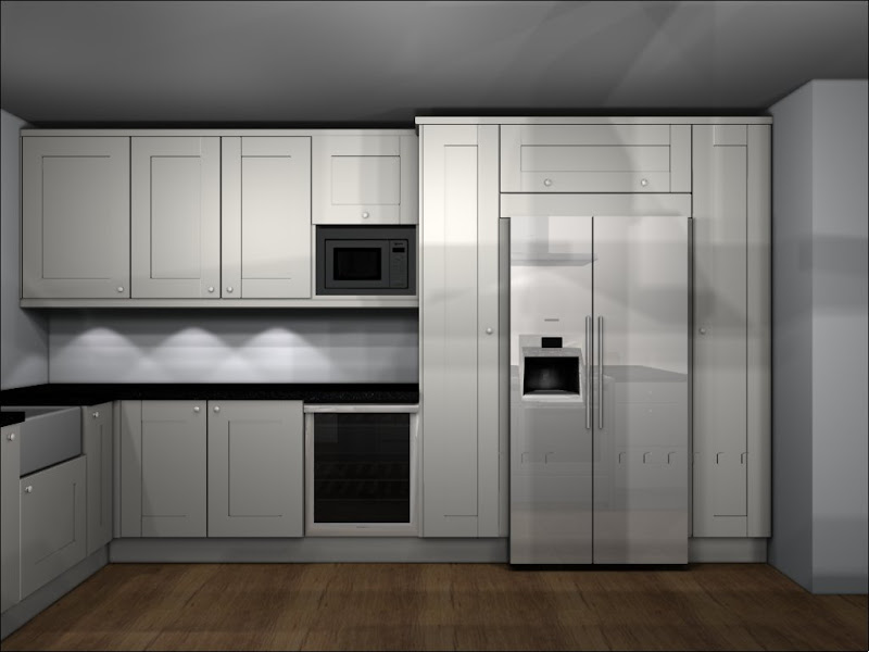This is a practical and stylish kitchen set in the home owner's  title=