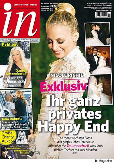 The first shots of Nicole Richie in her wedding gown have surfaced -- and