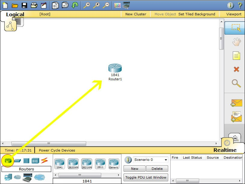 configure a router with packet tracer