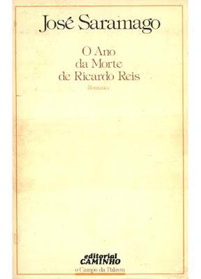Capa de 'O Ano da Morte de Ricardo Reis', de José Saramago