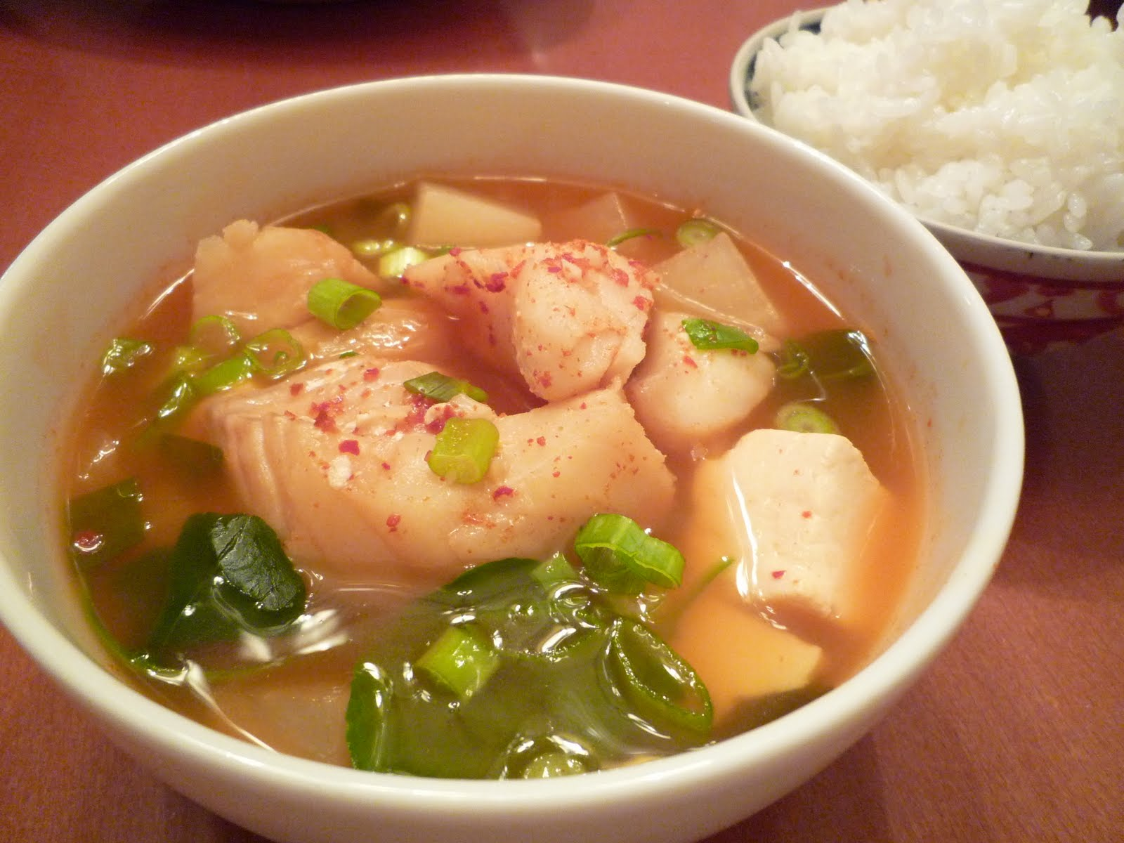 Rie 39 s ultimate foodie blog hot and spicy fish soup for Fish soup cod