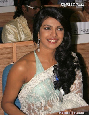 Priyanka Chopra in A Backless Transparent Saree  56th National Film Awards image