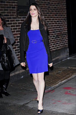 Rachel Weisz blue dress photos