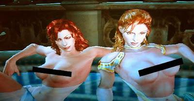 Saboteur topless girls #3