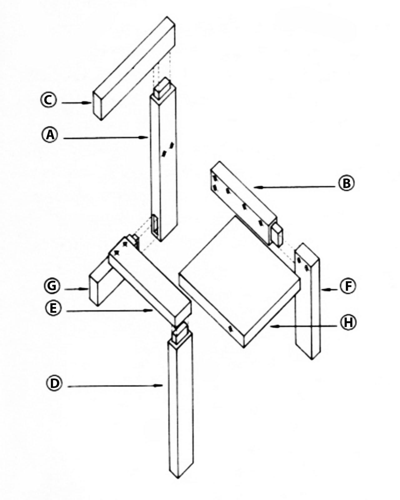 Building gerrit rietveld february 2011 for Steltman stoel afmetingen