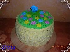 Virágláda torta