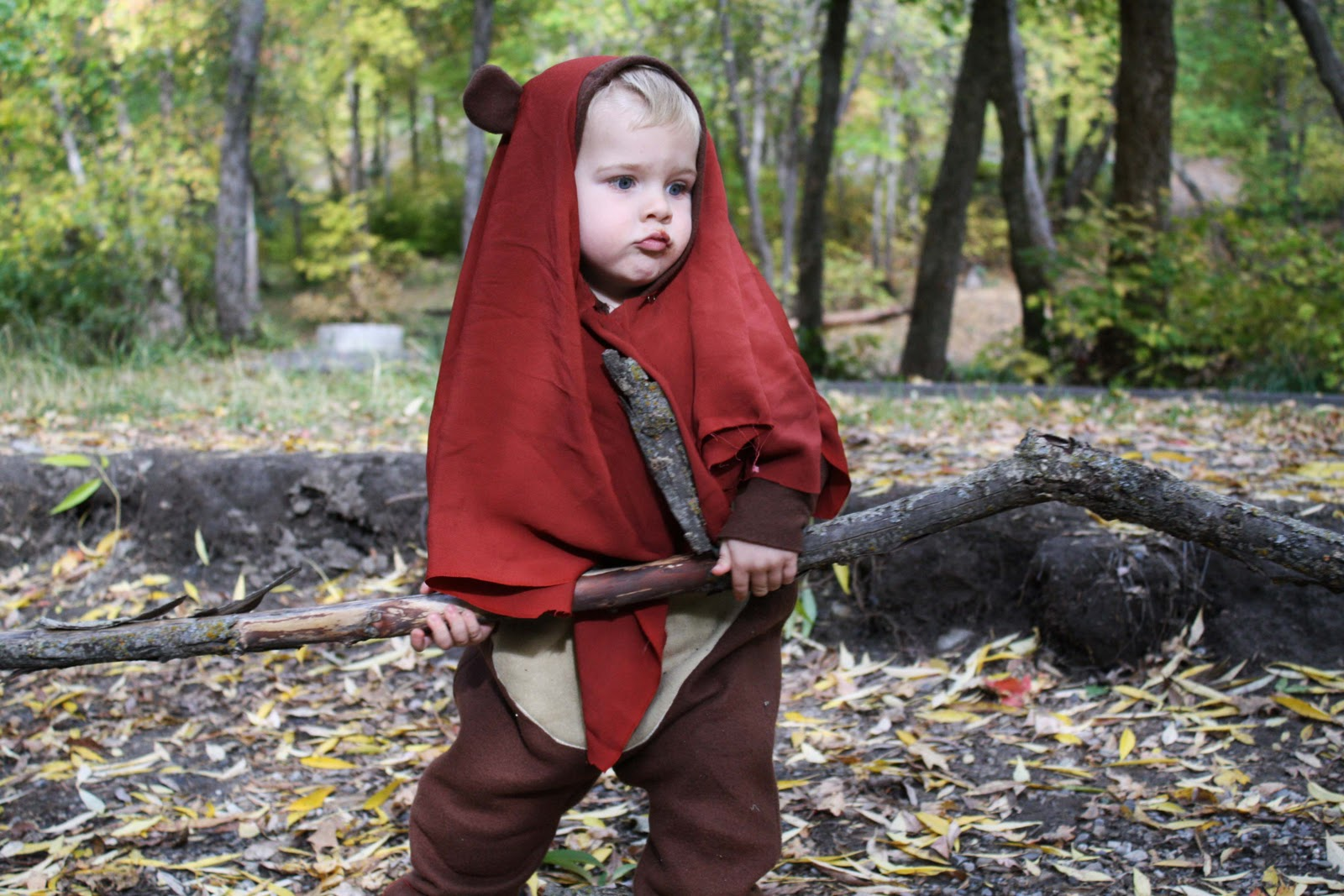 running with scissors halloween costume ewok. Black Bedroom Furniture Sets. Home Design Ideas