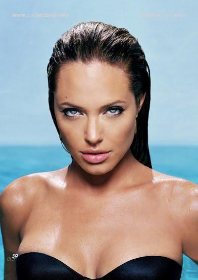 angelina jolie wallpaper bikini. Angelina Jolie In Wet Bikini