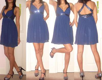 blue lipsy dress