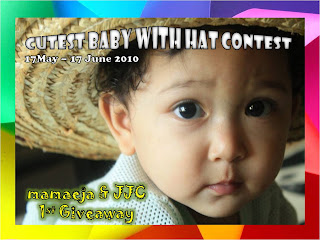 ~~ mamaeja & JJC 1st Giveaway : Cutest Baby With Hat Contest ~~