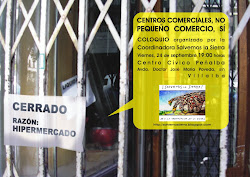 Centros comerciales, NO. Pequeo comercio, SI.