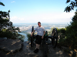 Me at Point Park leaning against a gun from the Civil war