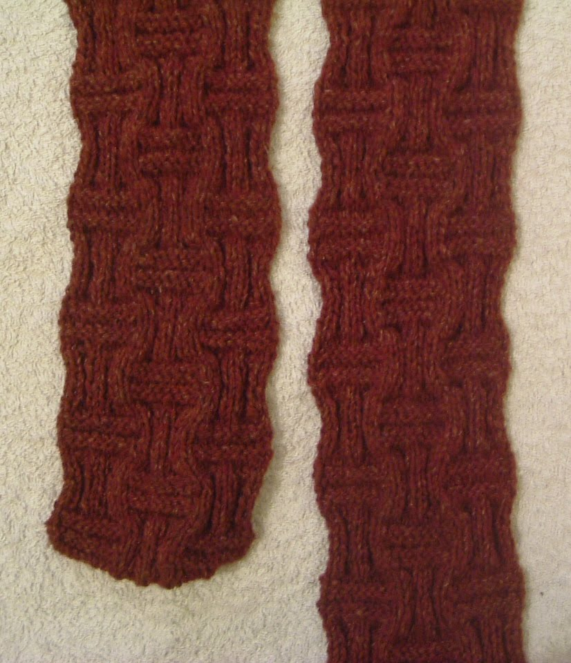 How To Do A Basket Weave Knit : Stitch in time double basket weave scarf