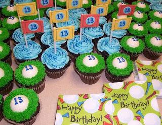 Carter's golf cupcakes