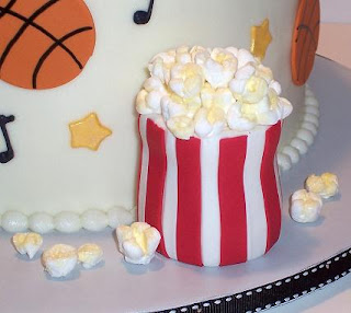 popcorn cake decoration close up picture