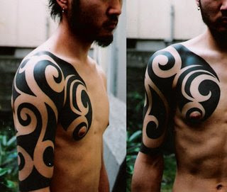 Japanese Tattoos with Tribal Male