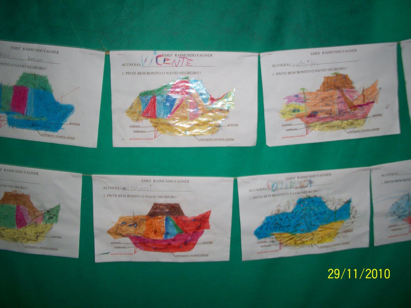 confeccionado pelos alunos da educação infantil: Navio Negreiro #024332 1600 1200
