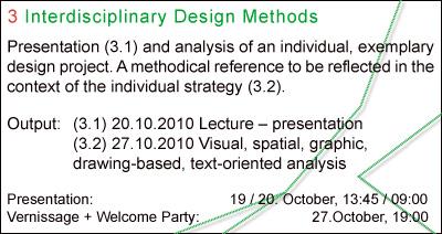 EAD | ASG 2010-10-20 #3 Interdisciplinary Design Methods