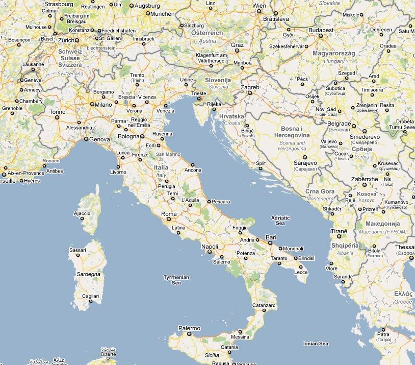 Slovenia Croatia Italy Map: Italy Croatia Map At Infoasik.co