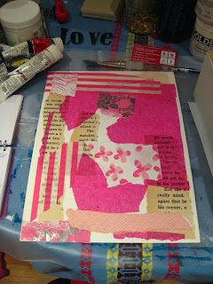 Found Art Friday :: Big Love painting