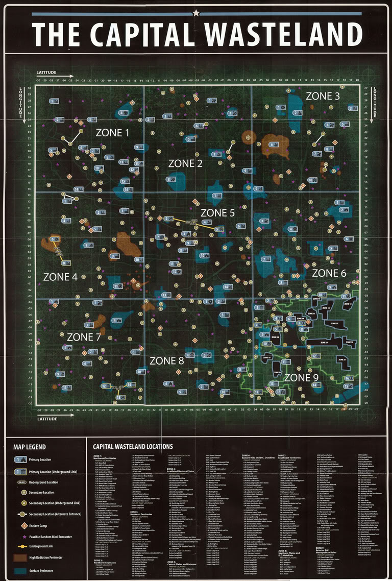 Fallout 3 map The Vault