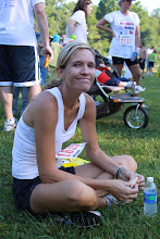 Etowah River Run 5k, waiting for my 1st place prize.