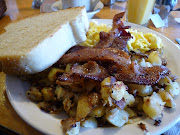 1/2 [HALF!!!] standard breakfast at the Roadhouse