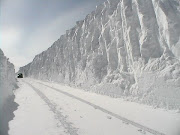 Snow banks on roads, Fargo, ND 2009