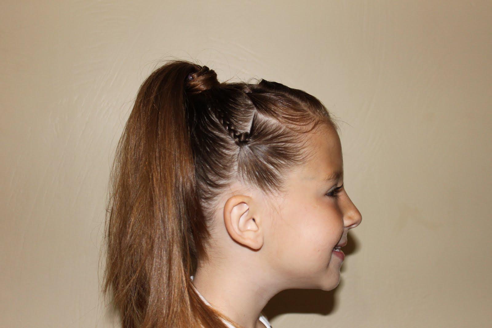 Hairstyles Girls Wright Hair Braids Ponytail