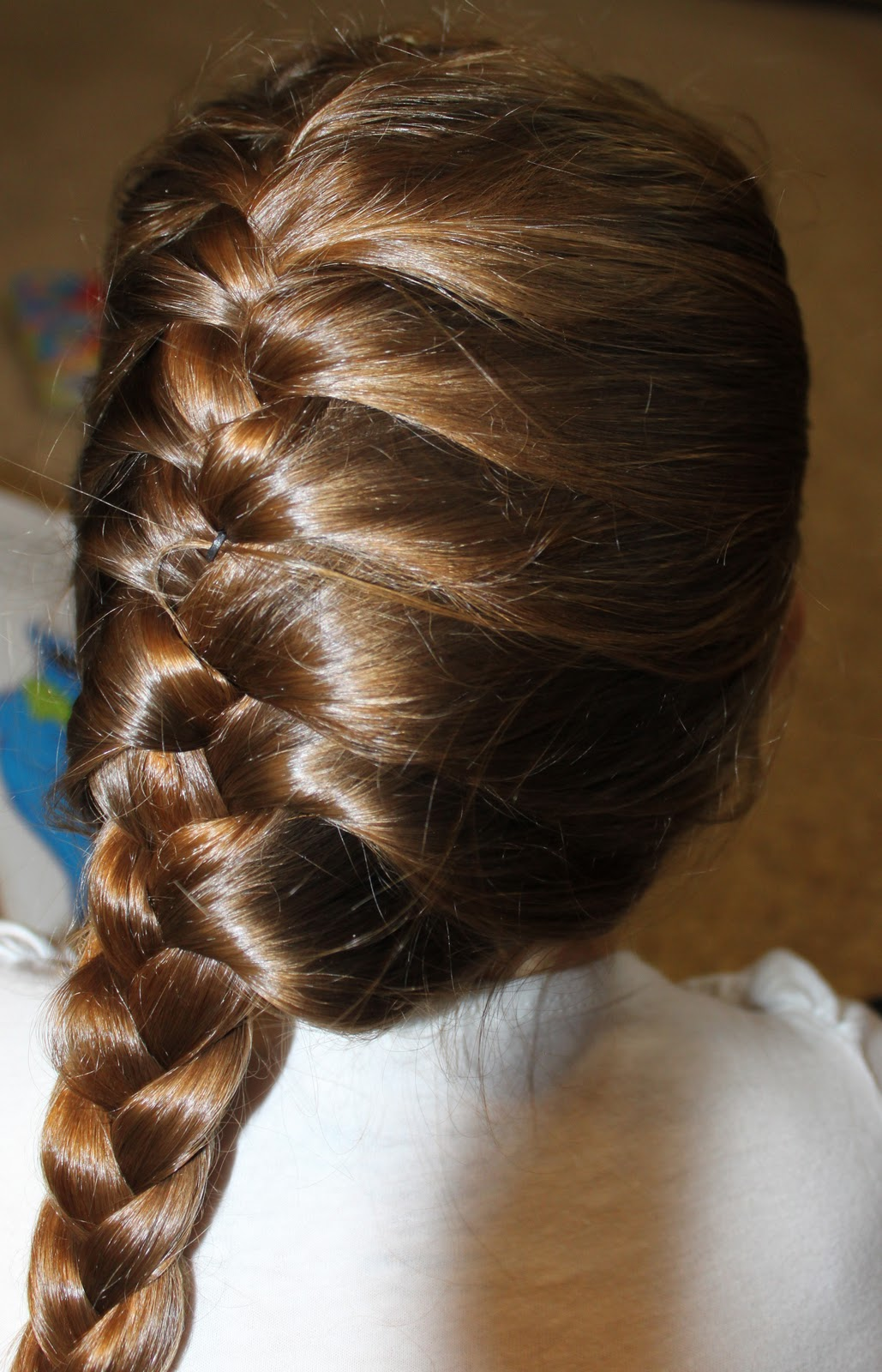 how to draw a french braid from the back