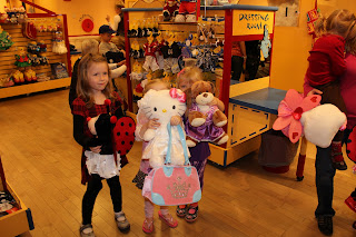 """I can hardly believe our little girl is now four-years-old. This past weekend, she had her first big birthday party at Build-A-Bear Workshop. She could hardly contain her excitement and had a look of pure relief when she woke on Saturday to learn it was """"finally my party"""". :) She chose a Build A Bear birthday party because...in her words...everyone would have fun and love them. Out of the mouth of babes...she nailed it. The party was filled with fun and activity for all of the guests, who ranged in age from three through six."""